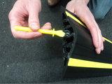 Drempelprofiel waterkering 4cm hoog inclusief montagekit_