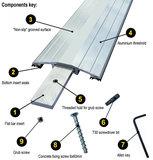 Drempelprofiel aluminium 1,5cm hoog_